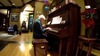 Marjorie Redmond on her 100th birthday