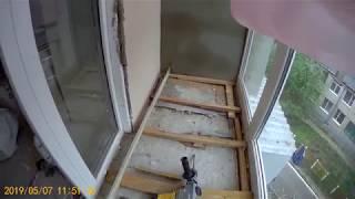 Ремонт балкона. Полы из ОСБ