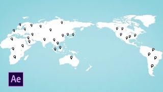 Erstellen Sie eine Weltkarte, Animation | After Effects Tutorial