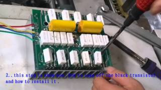 how to change the ultrasonic transistor
