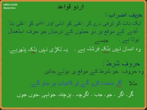 Adv Urdu Grammar Harf Ki Iqsaam Part 11 Youtube