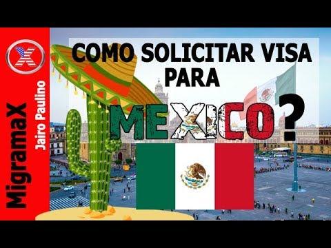 Como solicitar Visa para Mexico?