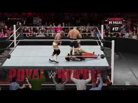 WWE Royal Rumble 2016 WWE World Heavyweight Championship Royal Rumble Match - WWE 2K16 Simulation