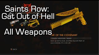 Saints Row: Gat Out of Hell - All Weapons & Weapon Upgrades - with Professor Genki!