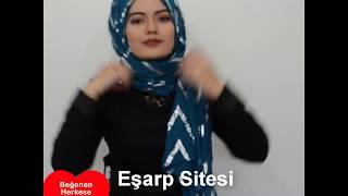 Gambar cover Şal bağlama Videosu   Zikzak Desenl Pamuk Şal (25 Saniyede inanılmaz güzel şal bağlamak için)
