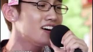 「Love in the Ice」を熱唱する東方神起☆ 眼鏡ユノかっこいいぃ~ヽ(*´∀...