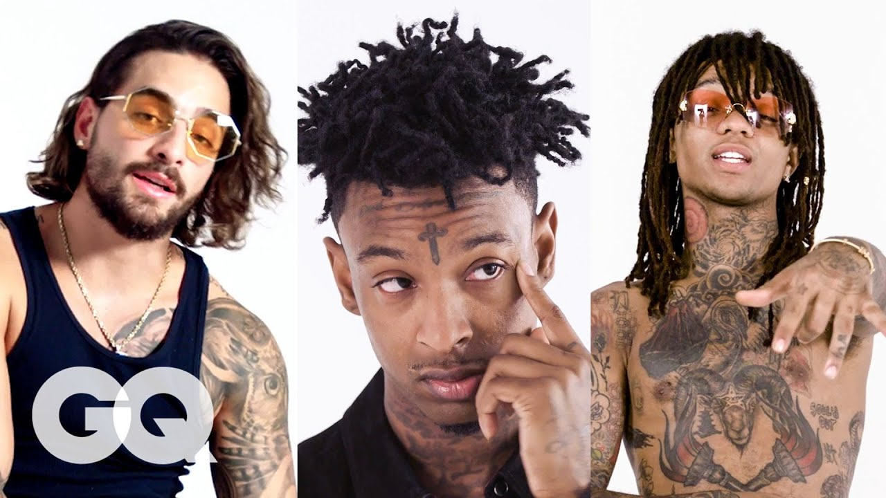rae sremmurd 21 savage and more break down their tattoos best of tattoo tour gq youtube rae sremmurd 21 savage and more break down their tattoos best of tattoo tour gq