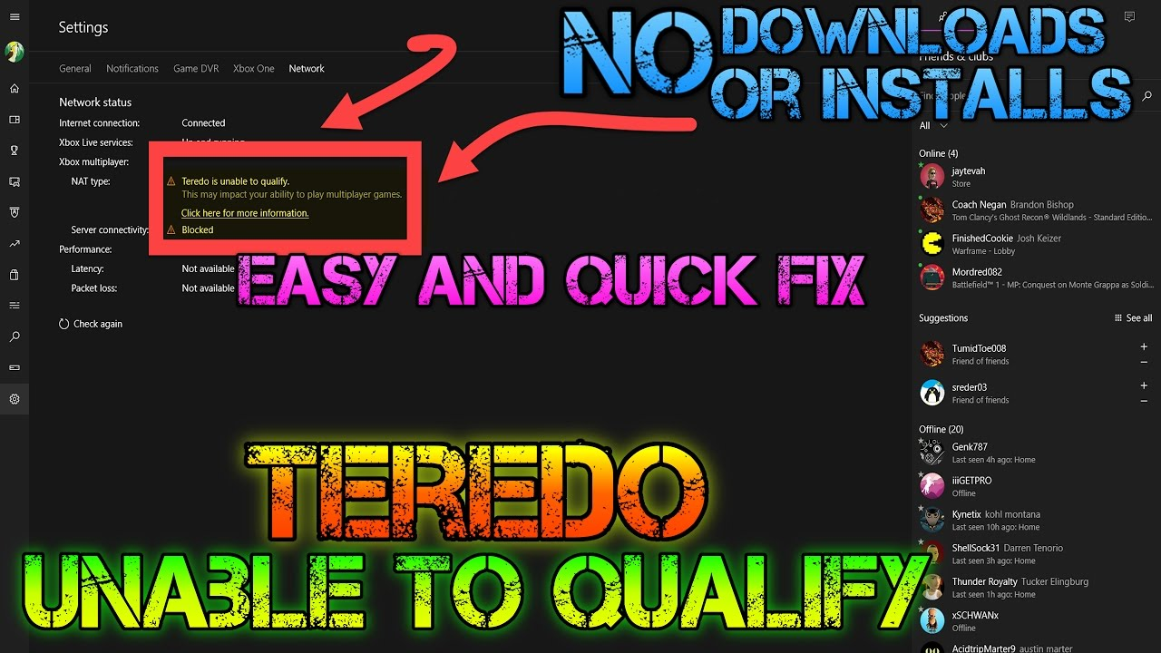 TRY THIS FIRST - Xbox App Issues- Teredo Is Unable To Qualify - YouTube
