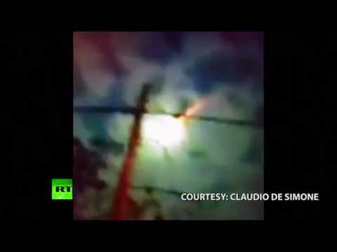 Bright meteor turns sky green over Argentina