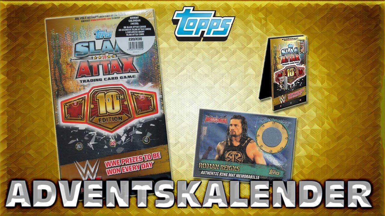 Match Attax Weihnachtskalender.Slam Attax 10 Wrestling Adventskalender Topps