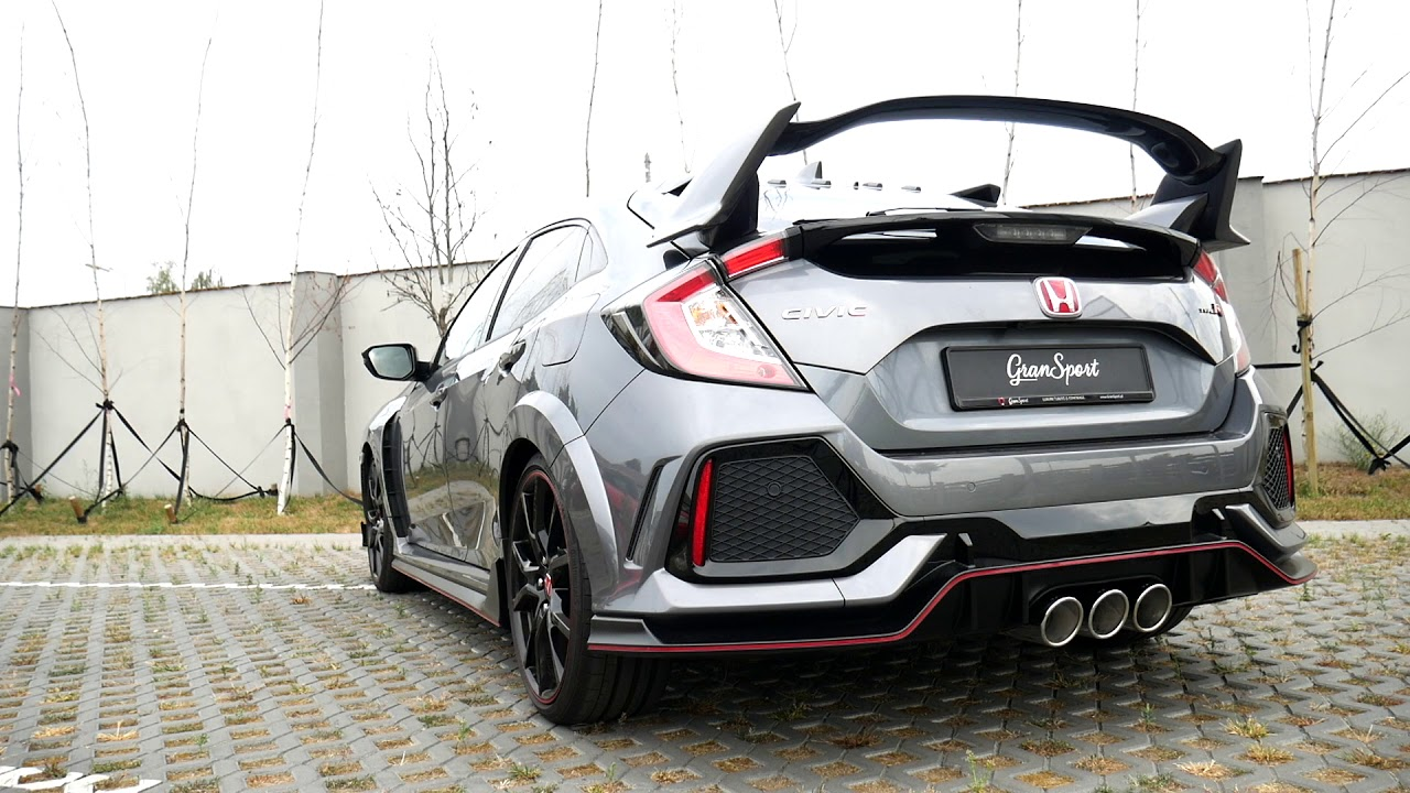 honda civic type r fk8 with remus racing cat back exhaust