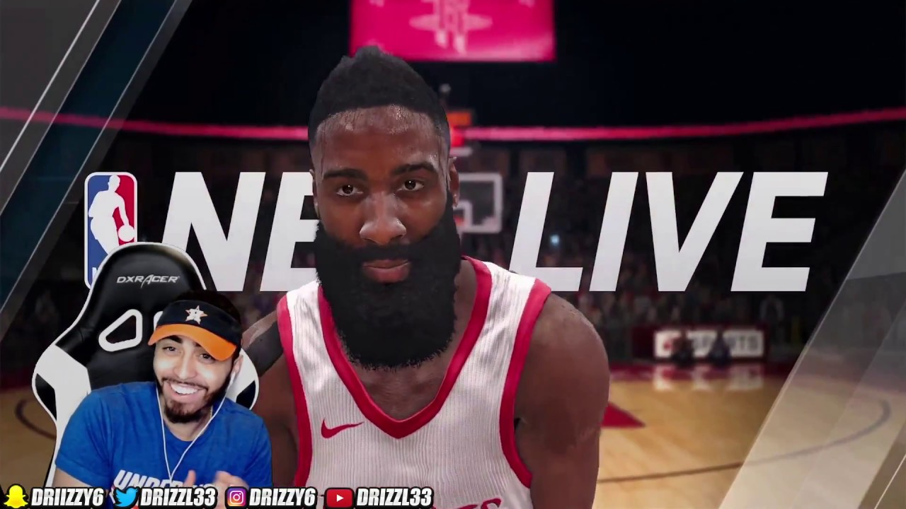 a01092952745 FIRST TIME PLAYING NBA LIVE 18! THE NBA 2K KILLER ! JAMES HARDEN COVER  ATHLETE