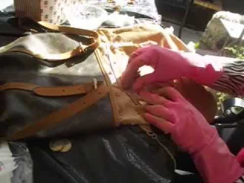 Step 6 How To Clean Louis Vuitton Bucket Sticky Lining Repeat 5 Until All Is Removed You