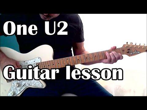 One, U2. Guitar Lesson (Tabs, Lyrics)