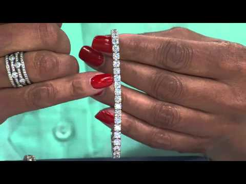 Diamonique Simulated Diamond Tennis Bracelet by Epiphany with Leah Williams