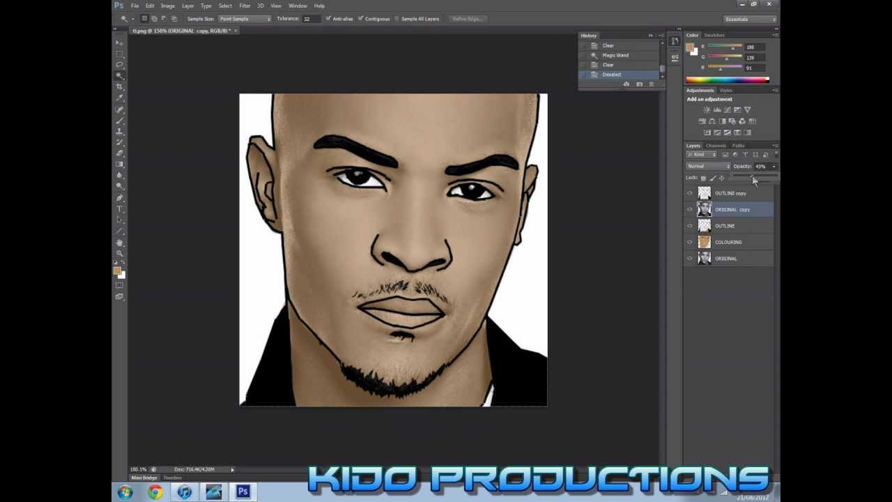 How to draw a cartoon face in photoshop