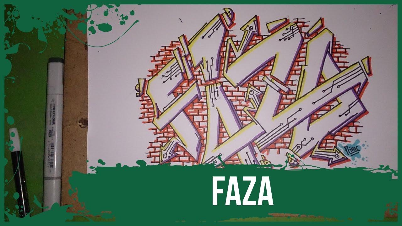 How To Make Graffiti Name Faza In Graffiti Graffitiprims