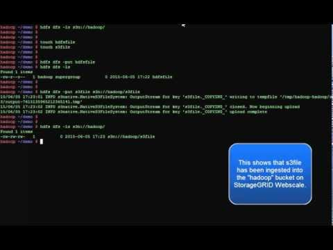 Hadoop S3 Functionality with StorageGRID Webscale - YouTube