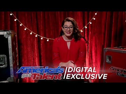 Deaf Singer Mandy Harvey Chats About Receiving the Golden Buzzer - America's Got Talent 2017