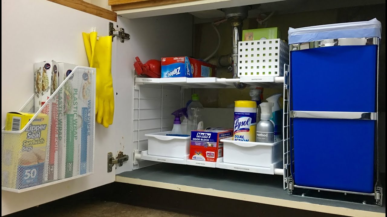 under kitchen sink organizer europa cabinets the organization tips inspired home youtube