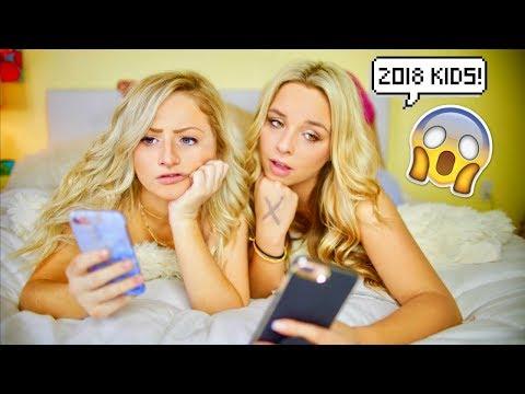2008 KIDS VS 2018 KIDS | Kalista Elaine