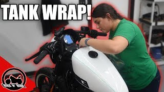 "Sportster ""Build"" Series S2 Ep3 - Tank Wrap and Graphics"