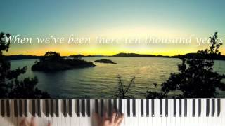 Amazing Grace (Piano with Lyrics)