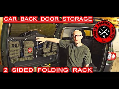 Toyota FJ Cruiser Rear Door Storage / $70 MOLLE FOLDING RACK