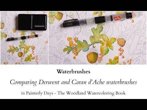 Waterbrushes - comparing Derwent with Caran d'Ache
