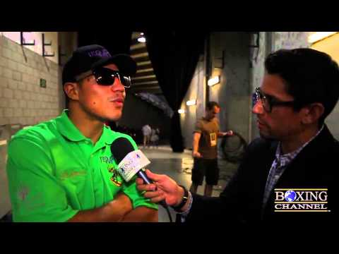 """Jessie Vargas """"They stole the fight from me! He was out! The ref saved Bradley!"""""""