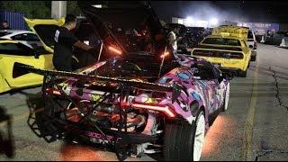 900HP Supercharged Huracan Vs. Dodge Demon!
