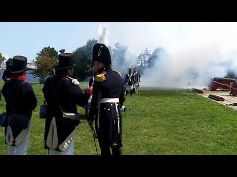 FT. McHenry live fire - 6 inch field gun