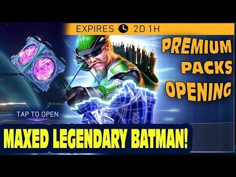 Injustice 2 Mobile LIVE. ACE GREEN ARROW CHALLENGE. MAXED Legendary Batman. Premium Pack Opening!