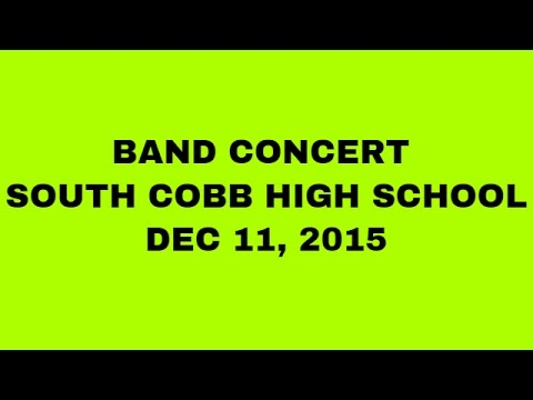 Band Concert - South Cobb High School - December 11, 2015