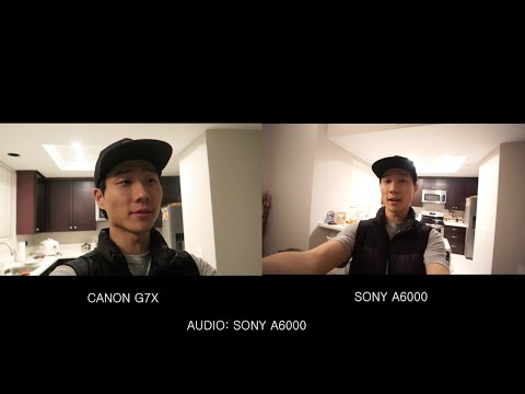 CANON G7X vs. SONY A6000