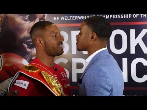 (TEMPERS ERUPT) KELL BROOK VS. ERROL SPENCE OFFICIAL FULL PRESS CONFERENCE AND FIRST FACE OFF