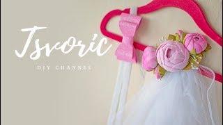 Фата с цветами из фоамирана DIY Tsvoric Wedding