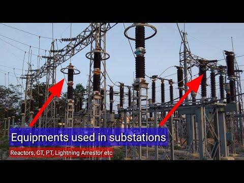 Equipments Used In Sub-Stations || Reactors, Capacitor Bank, Lighting Arrestor, CT, PT Etc