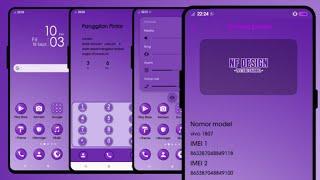 tema terbaru vivo PURPLE SOFT screenshot 1