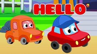 Xin chào bài hát | vần điệu cho trẻ em | bài hát ở việt nam | Little Red Car Rhymes | Hello Song