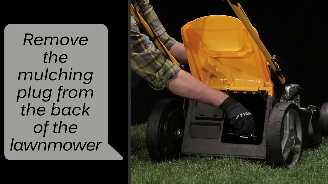 51bd11629f7 Stiga Combi Lawn Mower How to prepare the  Grass collection  Function