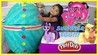 world s biggest pretty diy super giant surprise egg with my little pony toys playtime opening