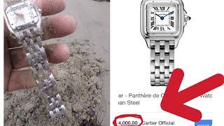 Encontré  Un Reloj Cartier de 4,000 Dolares en la playa