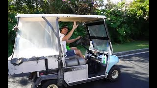 WE STOLE A GOLF BUGGY!!