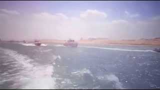 The first video of the waves crashing in the new Suez Canal