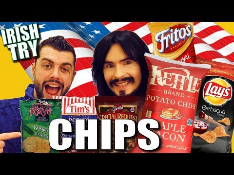 Irish People Taste Test AMERICAN CHIPS / Kettle / Tim's / Gardetto's / Fritos / Lay's / Uncle Ray's
