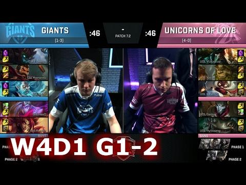 Unicorns of Love vs GIANTS | Game 2 S7 EU LCS Spring 2017 Week 4 Day 1 | UOL vs GIA G2 W4D1