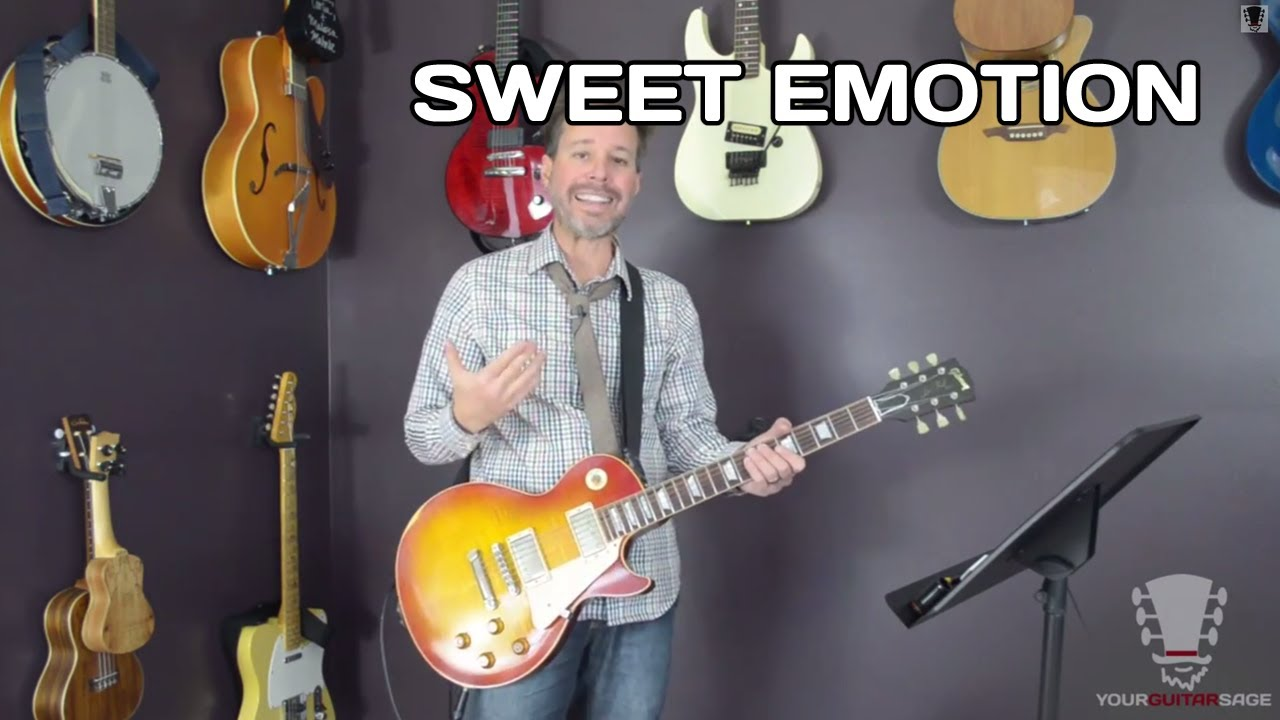 How To Play Sweet Emotion By Aerosmith Guitar Lesson Youtube