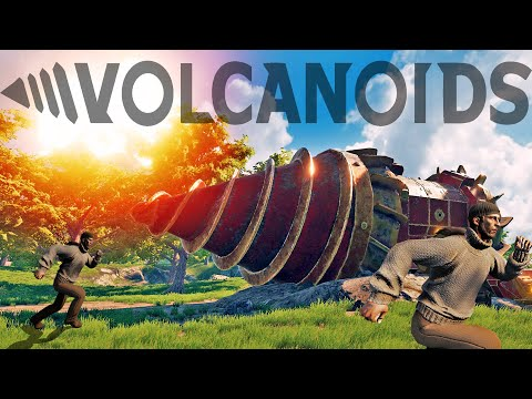 Building Giant Drill Ships To Survive Underground In A Volcanic World - Volcanoids Gameplay