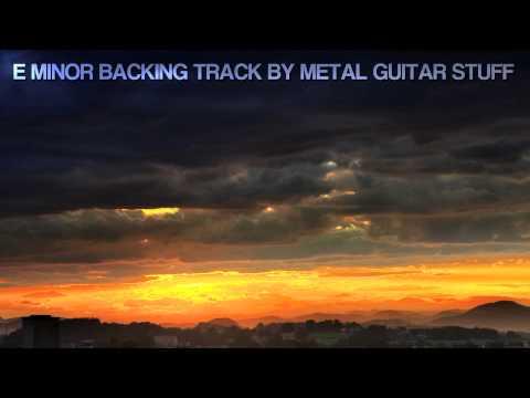 E Minor Sad Guitar Backing Track Acoustic Ballad
